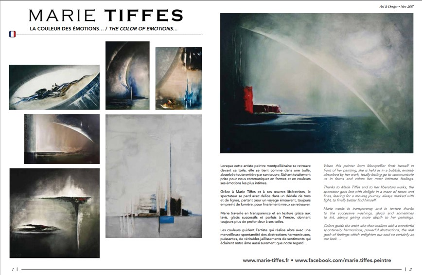 Article Marie Tiffes dans Art&Design